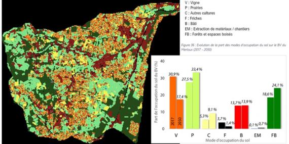 Modèle prospectif d'occupation du sol en 2050. Source : EVS